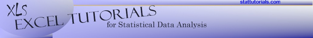 Excel Statistics Tutorials