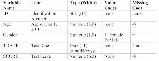 Create An Spss Data Set